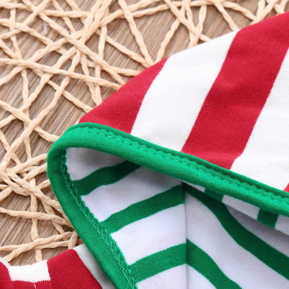 Áo liền quần Sơ Sinh Bé Trai Bé Gái Bé Trai Chúc Mừng Giáng Sinh Thời Trang Cá Tính Sọc Mũ Trùm Liền quần Bộ Trang Phục disfraz Bebe Romper Áo Liền Quần