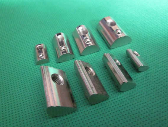 Halbrundmutter M3 M4 M5 M6 mutter schrapnell stahlkugel mutter block für EU standard 20 aluminium profil elastischen mutter 10 stücke