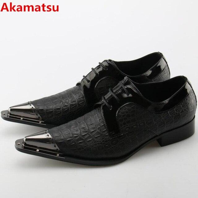 Zobairou Mens Pointed Toe Dress Shoes