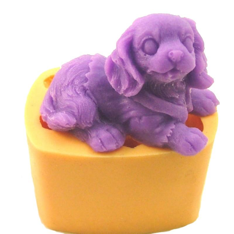Горячая распродажа 3d милая собака силиконовые мыло формы фондант торт отделочных работ свеча формы для выпечки мини-кекс кухня diy