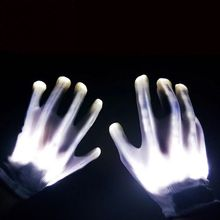 Halloween Party Cosplay Party Personality LED Light Funny Gloves Finger Lighting Electric Skeleton halloween colorful finger glow led gloves