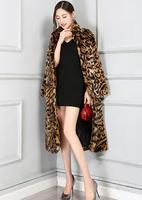 Леопардовое пальто женское осеннее с длинным рукавом сексуальное свободное Европейское и американское высокое качество меховое пальто дл