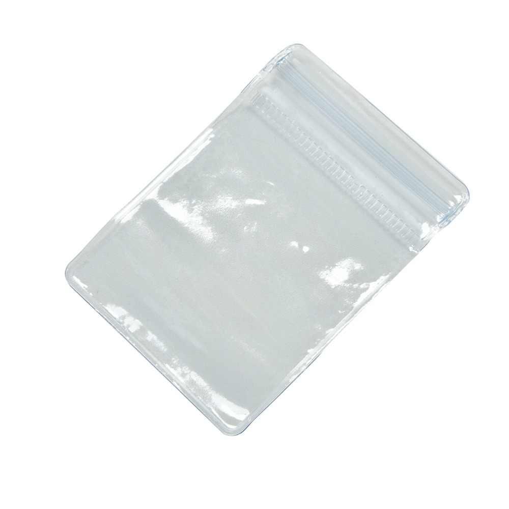 100 unids/lote 70x50mm bolsa de plástico transparente de PVC
