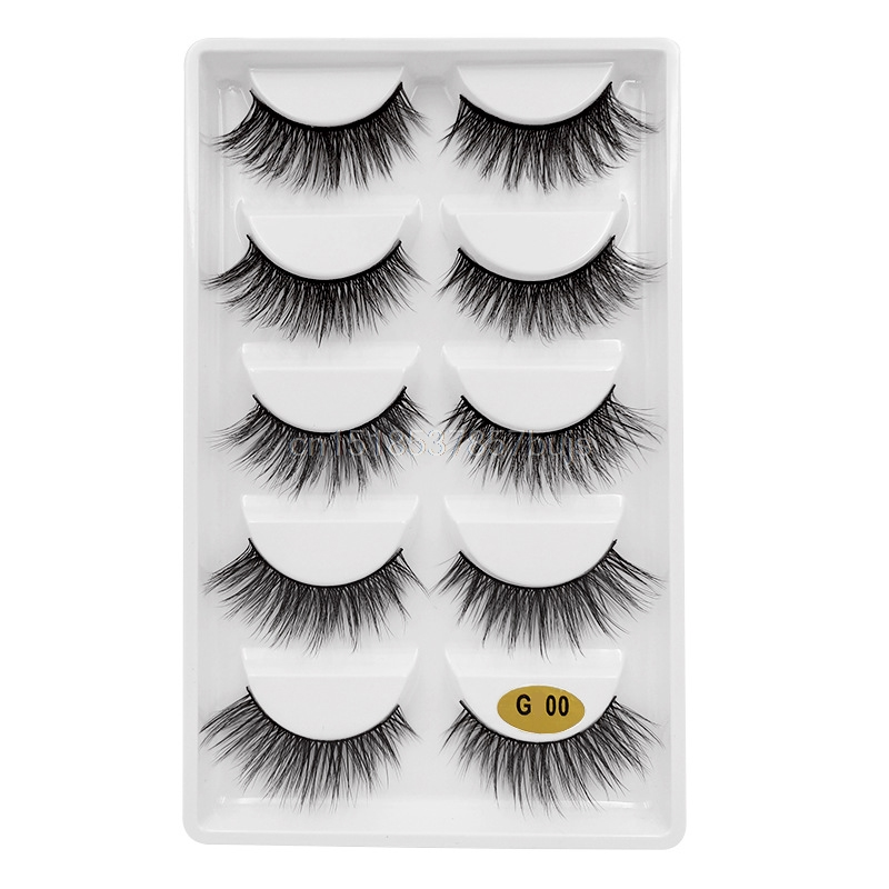HTB1oJ4OXJfvK1RjSspoq6zfNpXaC New 3D 5 Pairs Mink Eyelashes extension make up natural Long false eyelashes fake eye Lashes mink Makeup wholesale Lashes