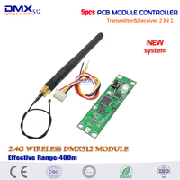 Promotion Factory Outlets 5pcs Lot Wireless DMX 512 Controller Transmitter Receiver 2 In 1 PCB Module