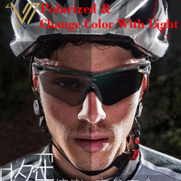 Photochromic Polarized Sports Sunglasses 4 Set Interchangeable Lenses For Biking Running Gafas Oculos De Sol Change