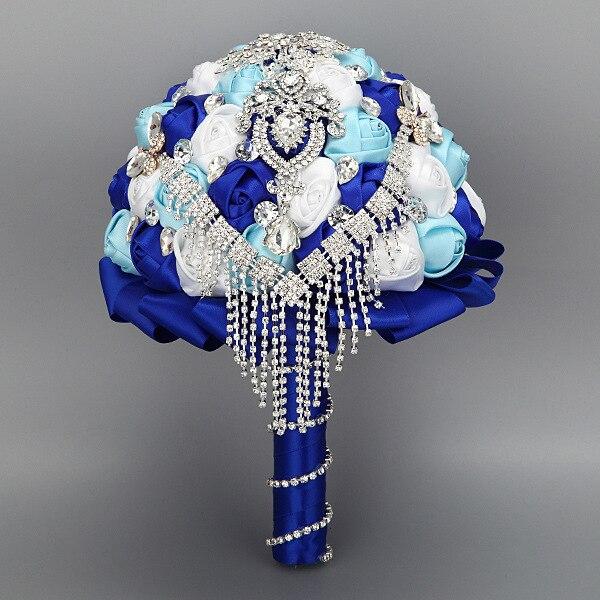 2017 новый Горячий продажа дизайн горячий продавать Высшего качества Ручной Работы из бисера Брошь шелковый Цветок невесты Свадебный свадебный букет Искусственный цветок