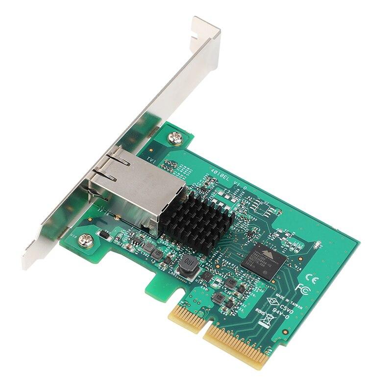 Placa de Rede Adaptador de Cartão Pci-express Pci-e Gigabit 10000 Mbps Ethernet Cartão 10g – 5g 2.5g 1000 m 100 Conversor x4 10
