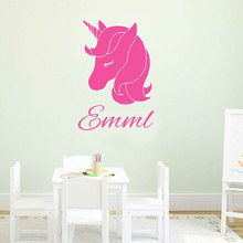 Personalized Name Unicorn Wall Decal Custom Sticker Vinyl For Girls Bedroom Monogram Nursery Decor 3N22