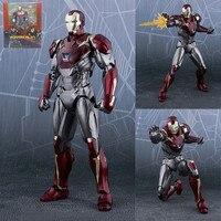 SHF Marvel Figures MK47 Ironman Action Figures Avengers Super Hero Iron Man BJD Model Toys 15cm
