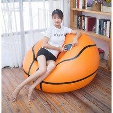 Mobiliário infantil inflável, sofá de cadeira com bola de futebol e sala de estar em pvc para adultos e crianças, para relaxamento ao ar livre