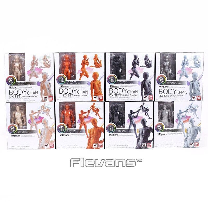 SHF shfiguarts cuerpo Kun/body Chan DX set acción PVC figura juguete modelo coleccionable con soporte 4 colores