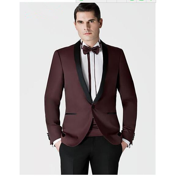 Customize Fashion Mens Custom Made Wine Red New Groom Suits Orted Colors Formal Occasion Men S