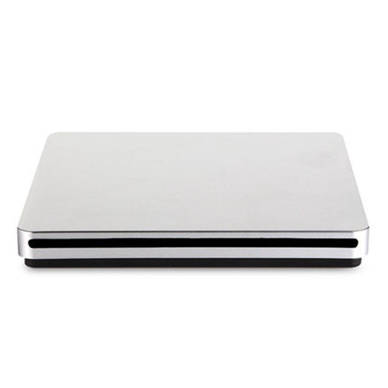 Free Shipping Suction DVD Burner USB2.0 Sucker Recorder Notebook External Drive For Apple Computer External Drive Silver
