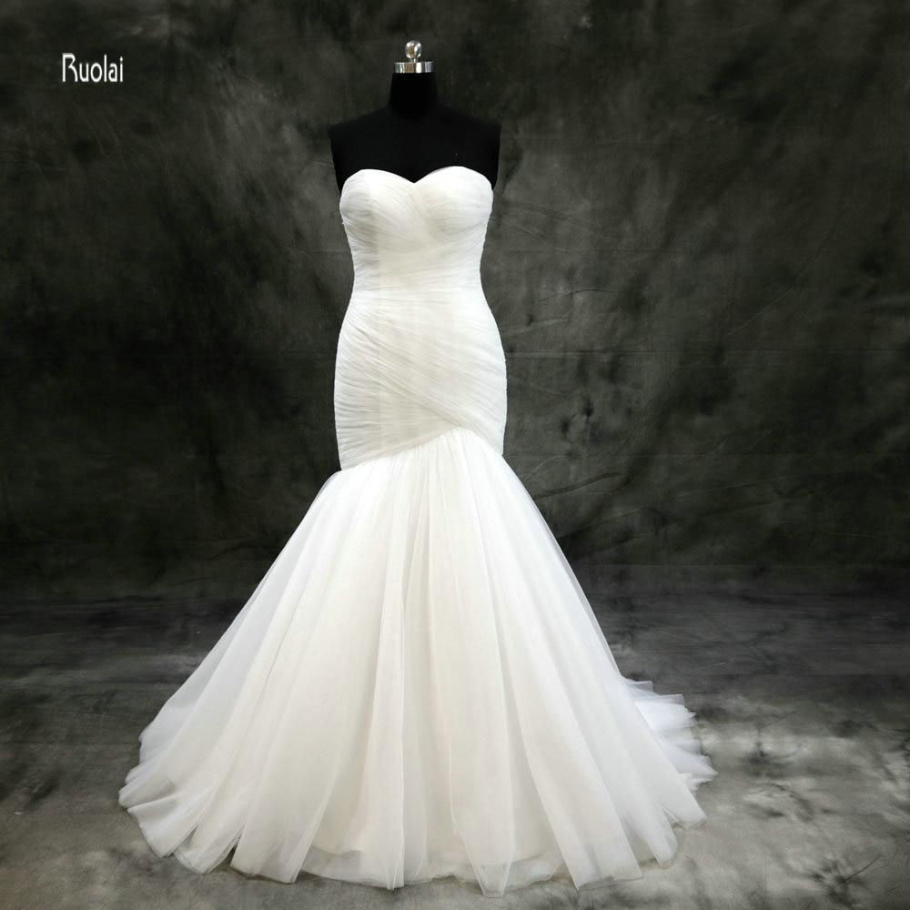 Vestidos De Noiva Robe De Mariage Simple Mermaid Wedding