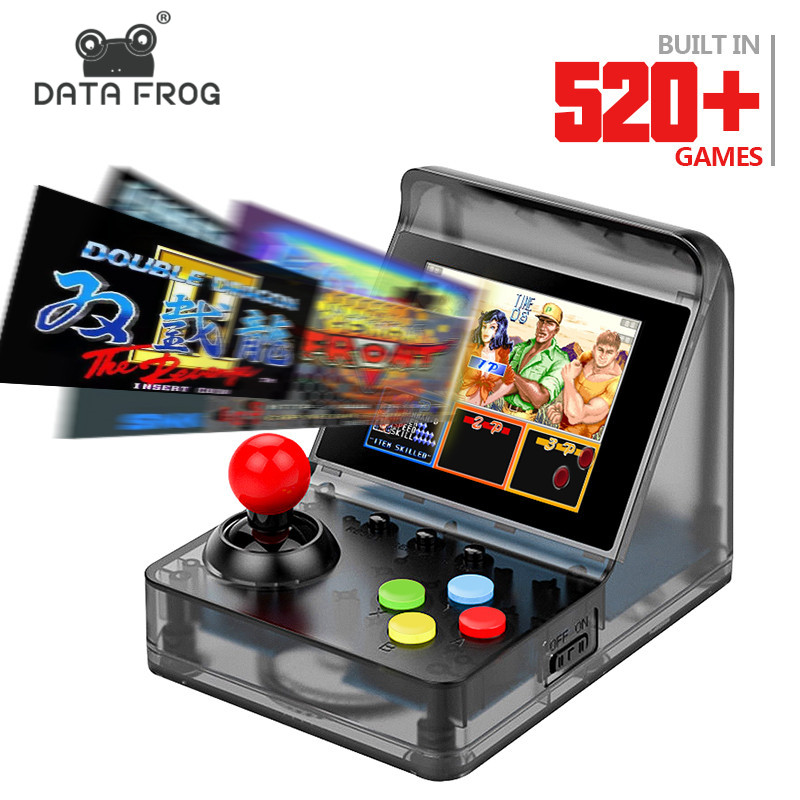 Data Frog 32 Bit Retro ARCADE Mini Video Game Console 3 0 Inch Built In 520