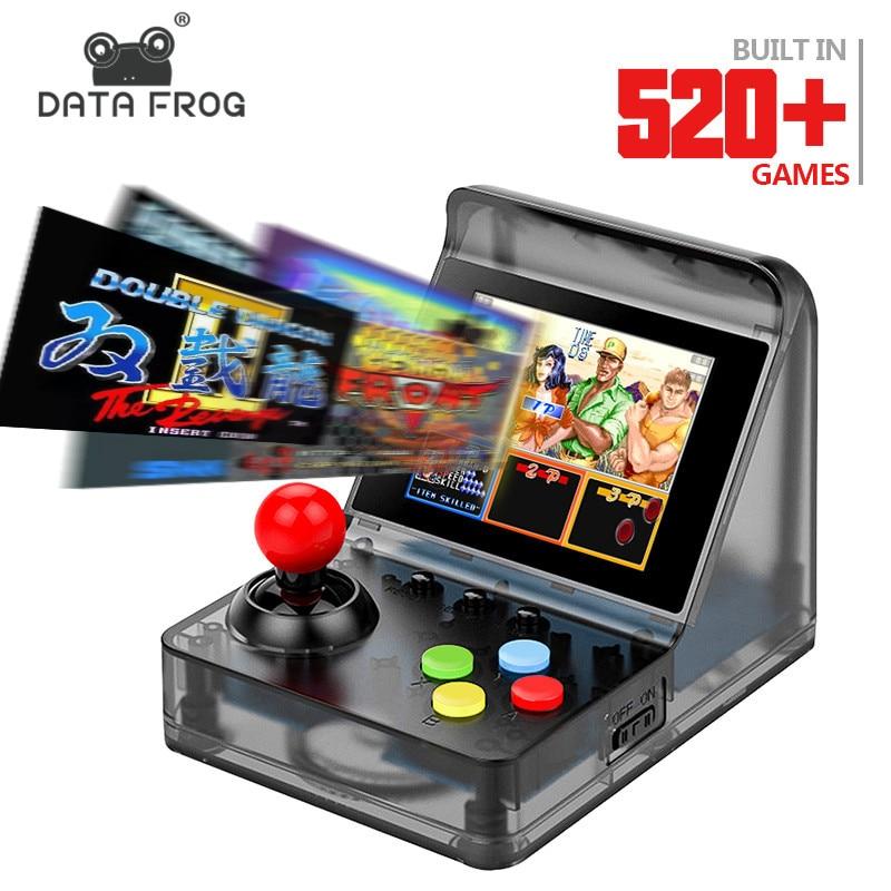 Données Grenouille 32 Peu Rétro ARCADE Mini Vidéo Jeu Console 3.0 pouce Construit En 520 Jeux De Poche Console de Jeu Famille enfant Cadeau Jouet