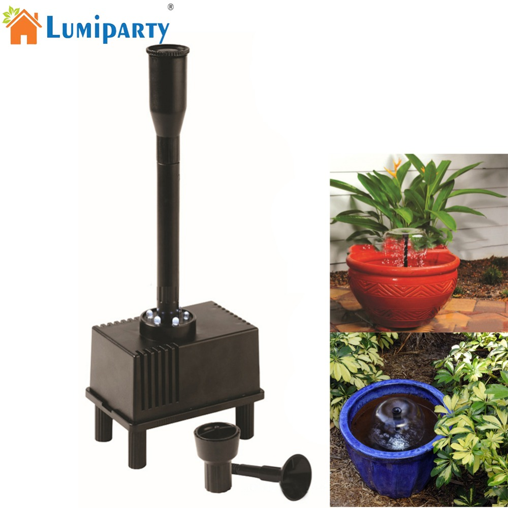 все цены на LumiParty 10W Fountain Water Pump with LED Light Submersible Pump with 3 Spray Nozzle for Aquarium Fish Tank Pond Hydroponics