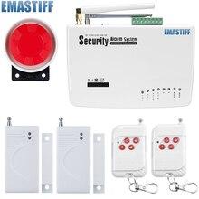 Бесплатная доставка Интерком безопасности дома беспроводной GSM сигнализация 2 года гарантии 900/1800/1900 мГц с русский, английский голос