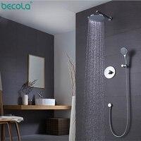 Precio BECOLA grifo mezclador de válvula de ducha de 8 pulgadas montado en la pared de baño