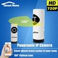 Fisheye Ip-камера Wi-Fi Беспроводной WI-FI Видеонаблюдения IP Камара Панорамный Ночного Видения Крытый Secuirty Карты Mini SD Onvif Cam