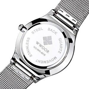 Image 4 - WWOOR 2019 גברים של שעונים למעלה מותג יוקרה אופנה אולטרה דק גבר שעון ספורט עמיד למים עסקי שעוני יד גברים שעונים 2018