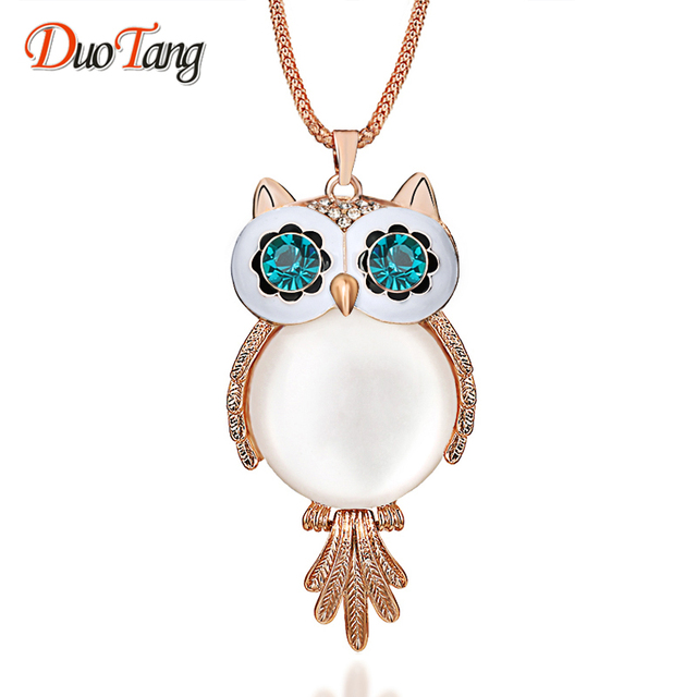 Aliexpress.com   Buy New Trendy Chubby Owl Necklace Fashion Rhinestone  Crystal Jewelry Statement Women Necklace Chain Long Necklaces   Pendants  from ... 5c46730368c0