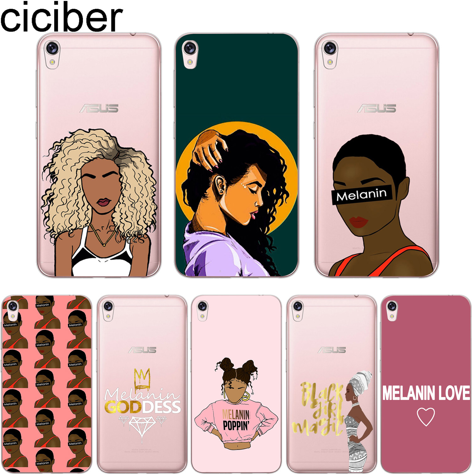 Phone Bags & Cases Latest Collection Of Ciciber Melanin Poppin Phone Case For Asus Zenfone 3 Max Zc520tl Cover For Zenfone Live 3 Go Zb500kl Zb501kl Soft Tpu Fundas Aesthetic Appearance