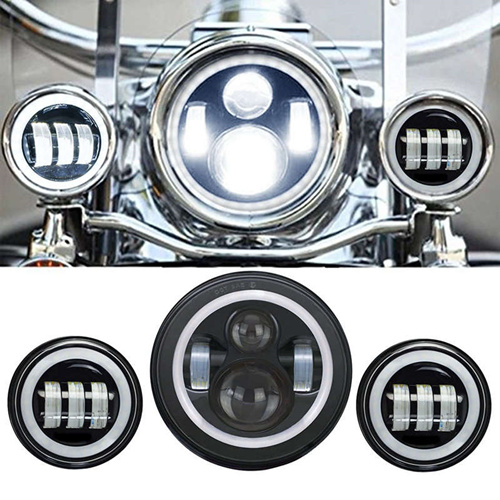 7 Inch for Harley Daymaker LED Headlight+ 2x 4-1/2
