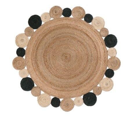 Round Natural Jute Carpet Mawgie