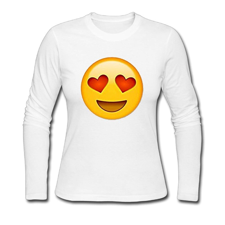 Casual Tee Shirts Simile Print Slim Style Cotton Long Sleeve Shirts
