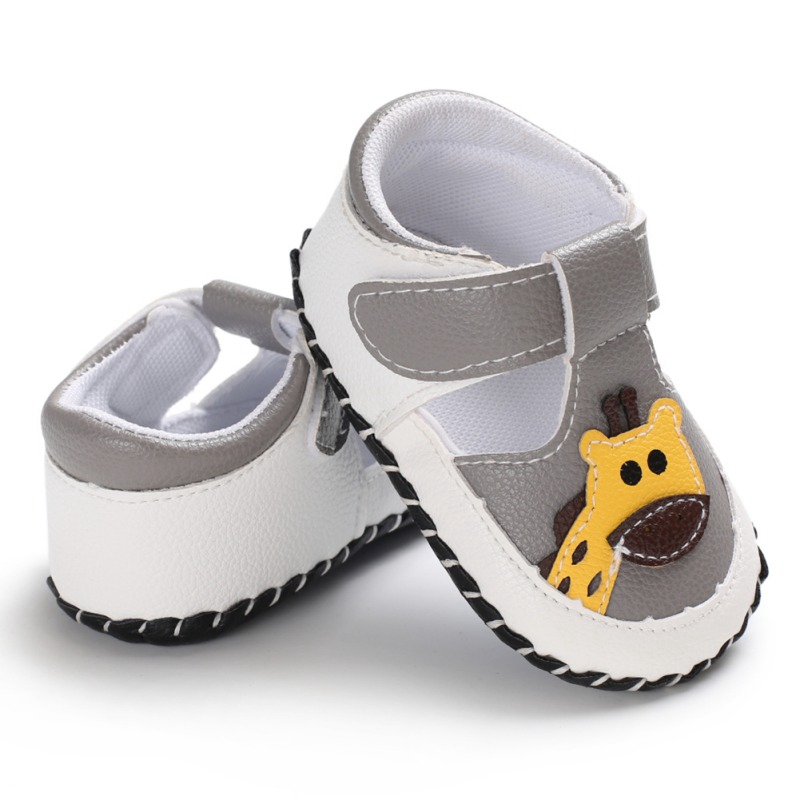 First Step Fashion Newborn Baby Boys Shoes Cartoon Giraffes Print Cute Spring&Summer Boys Girls Shoes First Walkers 0-18M