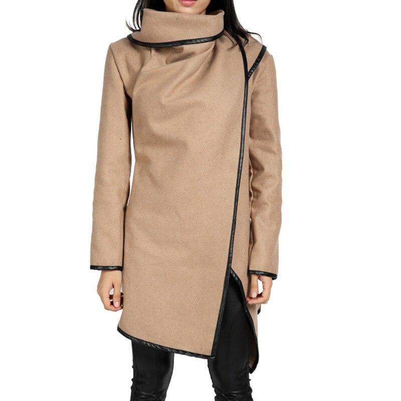 9a5d5326e Winter Autumn Jacket For Women Coat Irregular Wool Long Tops Fashion ...