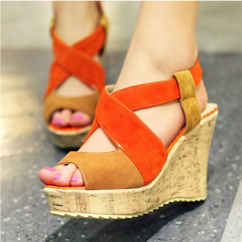 34-43 Women's Wedges Sandals Platform High Heels Ankle Strap Woman Sandals For Ladies Womans Summer Shoes Bohemia Gladiator 2017 велосипед altair city girl 18 2016