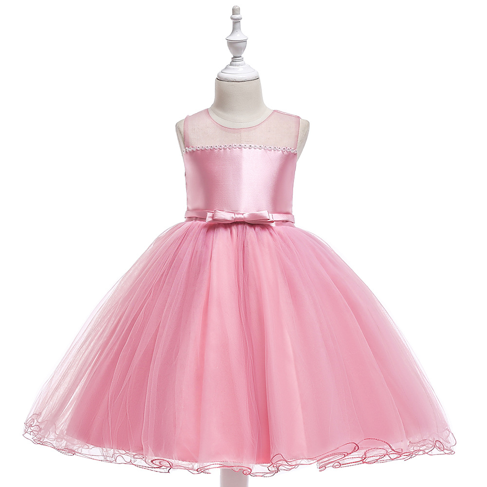 Elegant Appliques Draped Sequined   Flowers     Girl     Dresses   With Ribbon Bow Elegant Lace   Flower   Bow First Communion   Dresses