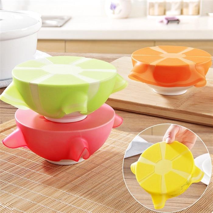 Buah Bentuk Stretchy Bowl Cover Silikon Suction Tudung-mangkuk Memasak Pot Stretch silikon Tudung Dishware Suction Covers & Bowl Tudung