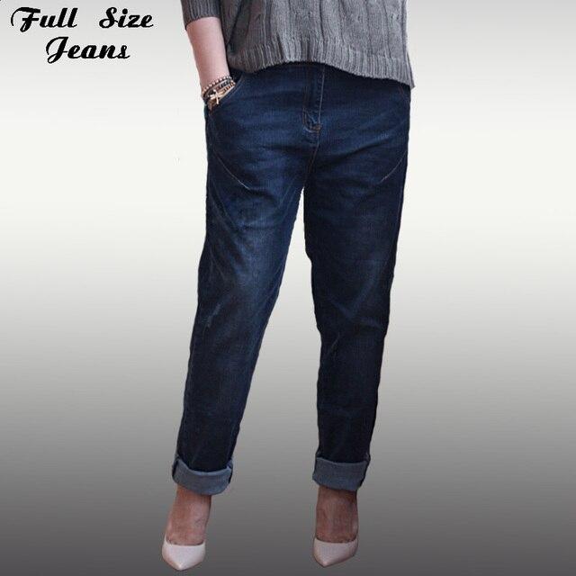 Vintage Retro Plus Size Harem Pants Boyfriend Baggy Hipster Distressed Black Jeans Denim Destroyed Trousers Female 4Xl 5Xl Xxs
