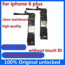 Оригинальная разблокированная материнская плата для iphone 6 plus 6 p Clean icloud с/без Touch ID 16 Гб 64 Гб 128 ГБ для iphone 6 plus материнская плата