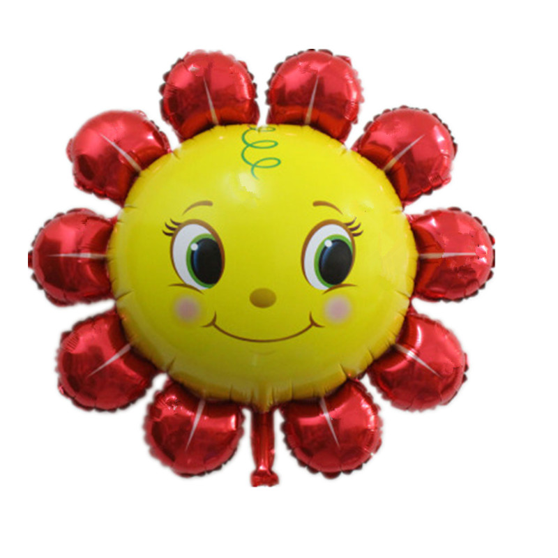 XXPWJ Free shipping new high sun smiley aluminum balloons wedding holiday party