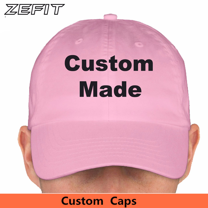 Custom Baseball Cap Unstructured Dad Hat Cotton Embroidery 6 Panels Snapback Strap Back Adult Kids Men