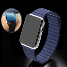 100 Brand New Pop Leather Loop Type Watchband for iwatch Strap Magnetic Buckle for Apple Watch