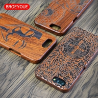 Natural Wood Phone Case For OnePlus 5 Cover Wooden High Quality Shockproof Protector Coque Carving Cover