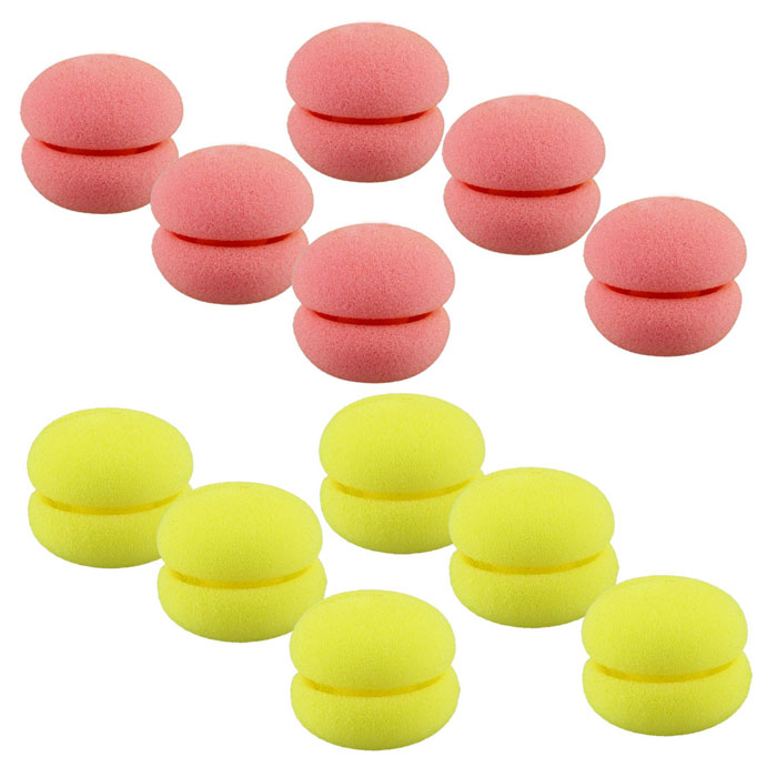GRACEFUL 6pcs/lot Magic Beauty Soft Sponge Hair Care Foam Balls Universal Hair Curler Fashion Cute Hair Rollers JUL20