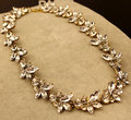 2017 New Design Bridal Necklace Leaf Imitation Gemstone Jewelry Statement Necklaces Pendants for Women Wedding Bijouterie items