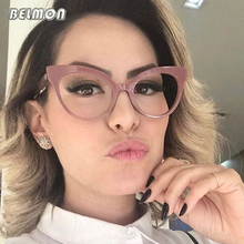 Cat Eye Spectacle Frame Women Eyeglasses Computer Prescription Optical For Female Vintage Eyewear Clear Lens Glasses Frame RS464