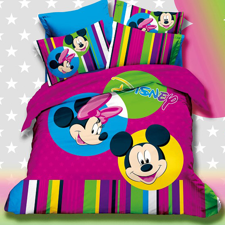 5pc With Comforter Discount 500tc Cotton King Size Mickey