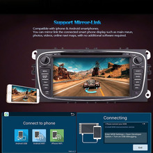 4 Core Android 5.1 Car DVD GPS For Ford Mondeo Focus 2 S-max 2007 2008 2009 2011 2013 with Radio Navigation 1G/16G