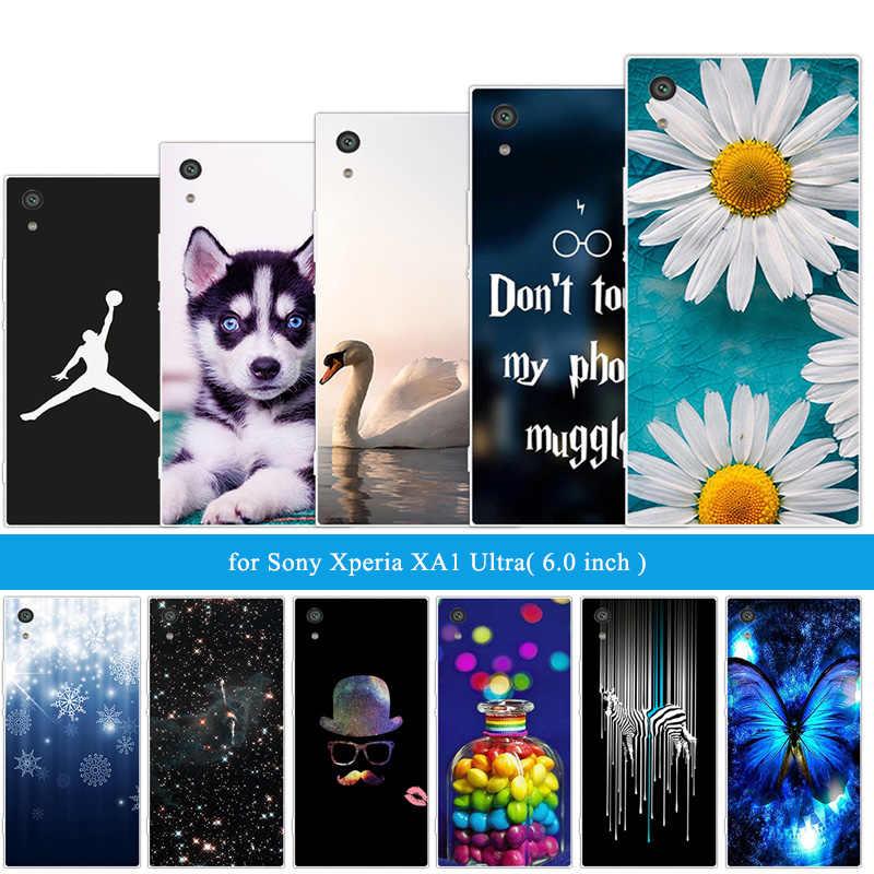 עבור Sony Xperia XA1 Ultra מצחיק חתול בחזרה כיסוי 6.0 inch עבור Sony Xperia X A1 Ultra רך TPU שקוף סיליקון טלפון פגז