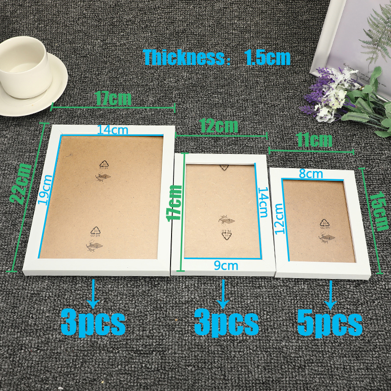Image 5 - 11Pcs Wall Hanging Photo Frame Set For Hallway Bedroom Living Room Wall Decoration Modern Art Home Decor Family Picture Display-in Frame from Home & Garden