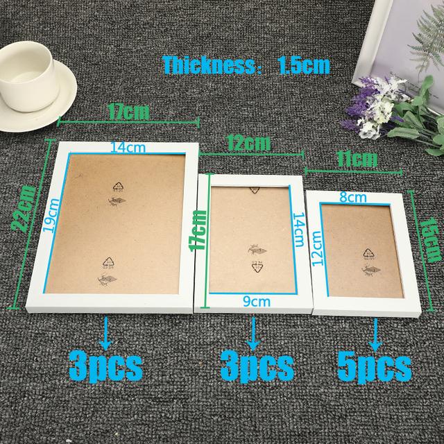 Modern Wall Hanging Photo Frame Set For Bedroom / Living Room Decoration – 11 pcs /set